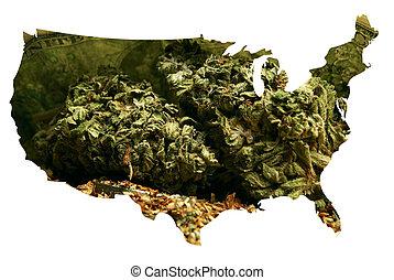 américa, marijuana