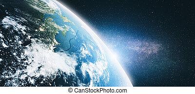 américa, nuvens, espaço