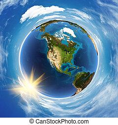 américa, paisagem, espaço