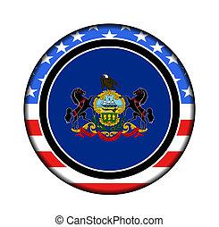 américa, pensilvânia, botão