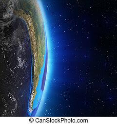 américa, sul, paisagem, espaço