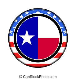américa, texas, botão