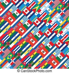 américa, united., vetorial, ilustração