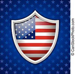 américain, écusson, bouclier