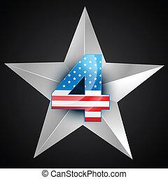 américain, écusson, drapeau