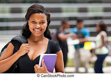 américain, étudiant université, africaine