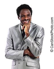 américain africain, homme affaires