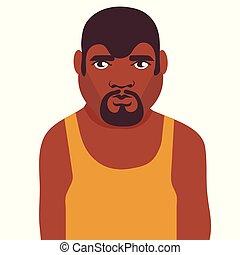 américain, africaine, adulte, homme
