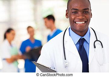 américain, africaine, docteur médical