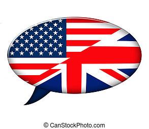 américain, anglaise