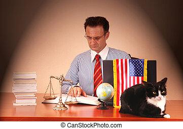 américain, avocat