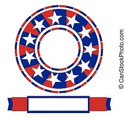 américain, bannière