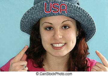 américain, beauté