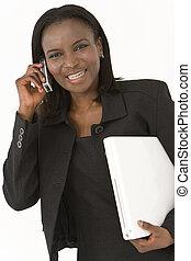 américain, cadre, africain femelle