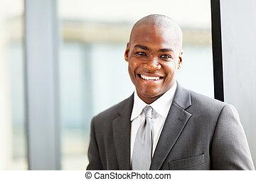 américain, cadre, business, africaine