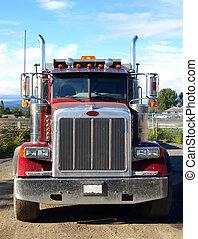 américain, camion