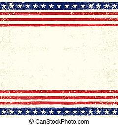 américain, carrée, carte