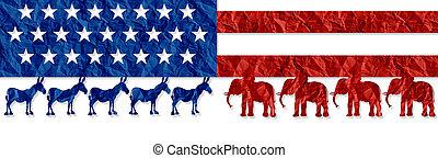 américain, choix, élection