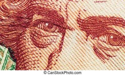 américain, closeup, billet banque