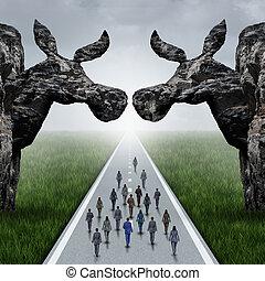 américain, concept, libéral, élection