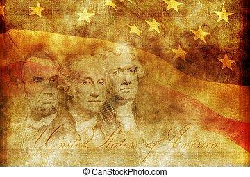 américain, concept, presidency