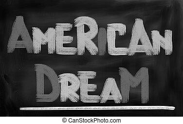 américain, concept, rêve