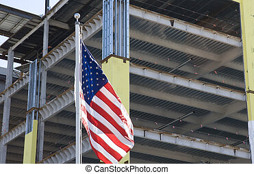 américain, construction