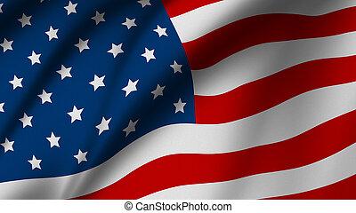 américain, drapeau etats-unis, fond, ou
