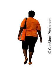 américain, excès poids, africaine