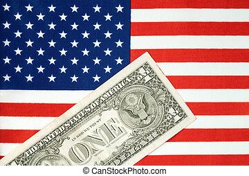 américain, financier, et, économie, concept