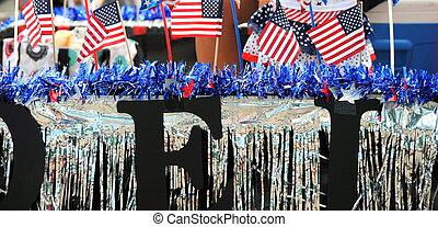 américain, flags.