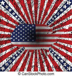 américain, grunge, fond