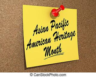 américain, héritage, asiatique, pacifique, mois
