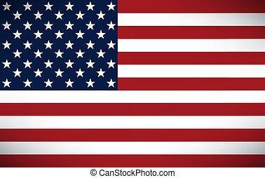 américain, image, vecteur, drapeau