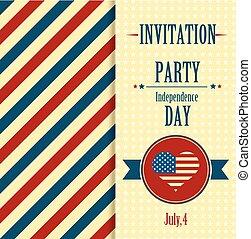 américain, invitation