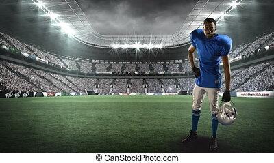 américain, joueur, football