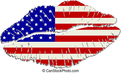 américain, lèvres