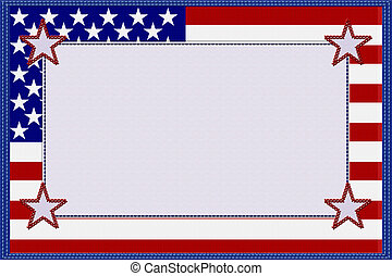 américain, matériel, drapeau, cadre
