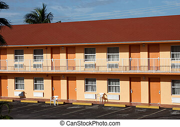 américain, motel, typique