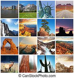 américain, paysages