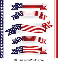 américain, rubans