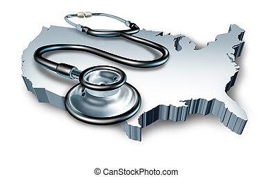 américain, santé médicale, symbole