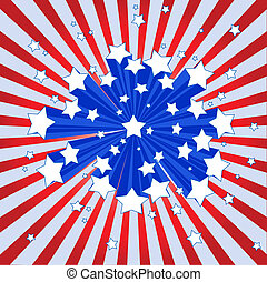 américain, starburst, fond