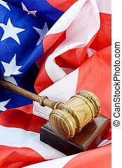 américain, système, légal