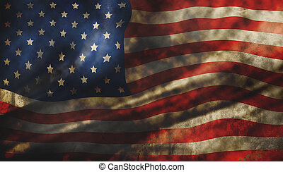 américain, texture, grunge, drapeau, fond