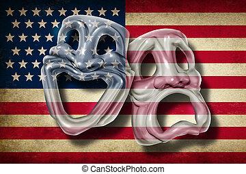 américain, théâtre