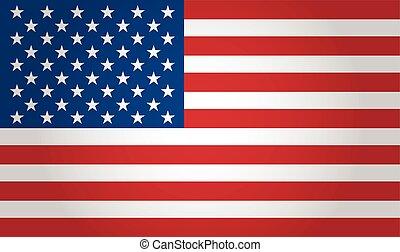américain, vecteur, drapeau, fond