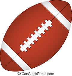 américain, vecteur, football