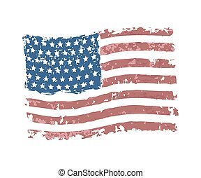 américain, vecteur, grunge, drapeau