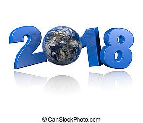 américas, centrado, tierra, vista, 2018, diseño